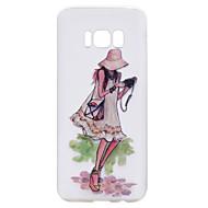 Недорогие Чехлы и кейсы для Galaxy S8-Кейс для Назначение SSamsung Galaxy S8 Plus S8 Прозрачный С узором Кейс на заднюю панель Соблазнительная девушка Мультипликация Мягкий ТПУ