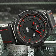Недорогие Фирменные часы-NAVIFORCE Муж. Спортивные часы Армейские часы Наручные часы Японский Кварцевый 30 m Календарь Творчество Cool силиконовый Группа Аналоговый Роскошь На каждый день Мода Черный / Коричневый -