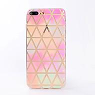 Назначение iPhone X iPhone 8 Чехлы панели Прозрачный С узором Задняя крышка Кейс для Геометрический рисунок Мягкий Термопластик для Apple