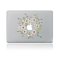 1 piesă Rezistent la Zgârieturi Floral Plastic Transparent Autocolant Corp Model PentruMacBook Pro 15'' with Retina MacBook Pro 15 ''