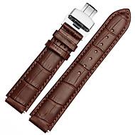 Voor huawei horloge 18mm / 22mm mstre horlogebandband solide kleur lederen vlinder gesp