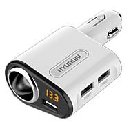 Недорогие Автомобильные зарядные устройства-Быстрая зарядка Другое 3 USB порта Только зарядное устройство DC 5V/3.1A