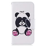 Kompatibilitás tokok Pénztárca Kártyatartó Állvánnyal Flip Minta Mágneses Teljes védelem Case Panda Kemény Műbőr Bőr mert SamsungJ3 J3