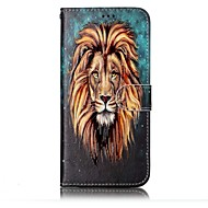 Недорогие Чехлы и кейсы для Galaxy S7 Edge-Кейс для Назначение SSamsung Galaxy S8 Plus S8 Бумажник для карт Кошелек со стендом Флип С узором Рельефный Чехол Животное Твердый Кожа PU