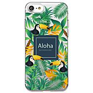 Недорогие Кейсы для iPhone 8 Plus-Кейс для Назначение Apple iPhone X iPhone 8 Прозрачный С узором Кейс на заднюю панель Слова / выражения дерево Животное Мягкий ТПУ для