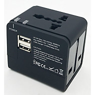 お買い得  USB 充電器-foxcan eec-148ue多機能トラベルソケット3.1a、2ポートUSB付き