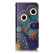 Недорогие Чехлы и кейсы для Galaxy S7 Edge-Кейс для Назначение SSamsung Galaxy S8 Plus S8 Бумажник для карт Кошелек со стендом Флип Магнитный С узором Чехол Сова Животное Твердый