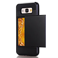 Недорогие Чехлы и кейсы для Galaxy A7(2016)-Кейс для Назначение SSamsung Galaxy A5(2017) A3(2017) Бумажник для карт Кейс на заднюю панель Сплошной цвет Твердый ПК для A3 (2017) A5