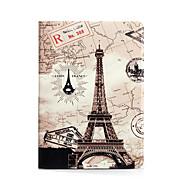 Apple iPad (2017) iPad Air 2 iPad Air jalustalla läppä malli kokovartalo tapauksessa Eiffel-torni kova PU nahka