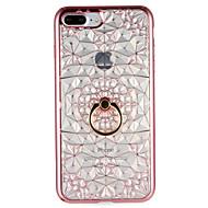 Käyttötarkoitus kotelot kuoret Sormuksen pidike Takakuori Etui Geometrinen printti Pehmeä TPU varten AppleiPhone 7 Plus iPhone 7 iPhone