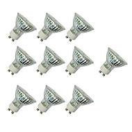 お買い得  LED スポットライト-10個 3W 280-420lm GU10 LEDスポットライト MR16 60 LEDビーズ SMD 3528 温白色 / ホワイト