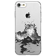 Назначение iPhone X iPhone 8 Чехлы панели Прозрачный С узором Задняя крышка Кейс для Пейзаж Мягкий Термопластик для Apple iPhone X iPhone