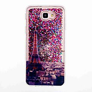 halpa Galaxy Grand Prime kotelot / kuoret-Etui Käyttötarkoitus Samsung Galaxy J7 Prime J5 Prime Virtaava neste Kuvio Takakuori Eiffel-torni Pehmeä TPU varten J7 Prime J7 (2016) J5