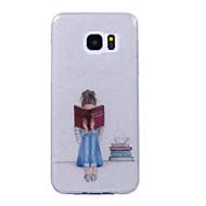 Недорогие Чехлы и кейсы для Galaxy S8 Plus-Кейс для Назначение SSamsung Galaxy S8 Plus / S8 IMD / С узором Кейс на заднюю панель Соблазнительная девушка / Сияние и блеск Мягкий ТПУ для S8 Plus / S8 / S7 edge