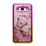 Etui Käyttötarkoitus Samsung Galaxy J5 (2016) J3 (2016) Pinnoitus Virtaava neste Läpinäkyvä Kuvio Takakuori Perhonen Kimmeltävä Pehmeä TPU