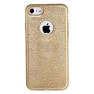 Για Apple iphone 7 7plus κάλυψη περίπτωσης κάλυψη πίσω κάλυψη περίπτωση λάμψη λάμψη συμπαγές χρώμα μαλακό tpu 6s 6 plus 6s 6