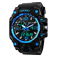 cheap Brand Watches-SKMEI Men's Sport Watch Digital Watch Digital Alarm Calendar / date / day Cool Silicone Band Analog-Digital Black - Red Blue Golden Two Years Battery Life / Maxell626+2025