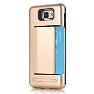 Недорогие Чехлы и кейсы для Galaxy J5(2016)-Кейс для Назначение SSamsung Galaxy J7 Prime J5 Prime Бумажник для карт Защита от удара Кейс на заднюю панель Сплошной цвет Твердый ПК для