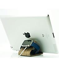 Stand de watch youzan para Apple Watch Series 1 2 ipad iphone 7 6 6s mais 5s 5 5c 4 3 suporte de madeira all-in-1 38mm / 42mm cable não