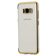Недорогие Чехлы и кейсы для Galaxy S8-Кейс для Назначение SSamsung Galaxy S8 Plus S8 Покрытие Прозрачный Кейс на заднюю панель Сплошной цвет Прозрачный Мягкий ТПУ для S8 Plus