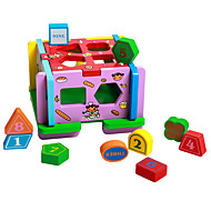 cheap Toys & Hobbies-Playhouse Pegged Puzzles For Gift  Building Blocks Natural Wood 3-6 years old Toys