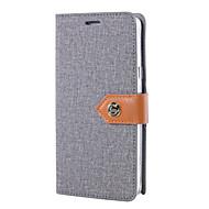 Недорогие Чехлы и кейсы для Galaxy S7-Кейс для Назначение SSamsung Galaxy S7 edge S7 Бумажник для карт Кошелек со стендом Флип Чехол Сплошной цвет Твердый текстильный для S7