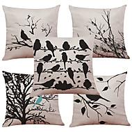 5 szt Bielizna Naturalne / ekologiczne Pokrywa Pillow Poszewka na poduszkę,Textured Pled Kwiatowy StałyTradycyjny / Classic Wałek Euro