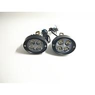 Elektrisk bil spotlights motorcykel super lyse led forlygter bagspejl 12v24v modificeret eksternt pære par