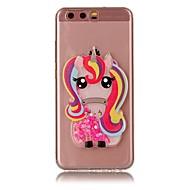 Для huawei y5 y6 ii чехол для корпуса unicorn flash порошок quicksand tpu материал diy телефон чехол p10 p9 p8 lite plus (2017)