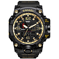 cheap Kids' Watches-SMAEL Men's Sport Watch Military Watch Digital Watch Japanese Digital 50 m Water Resistant / Water Proof Calendar / date / day Chronograph PU Silicone Band Analog-Digital Casual Fashion Black / Red