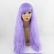 Недорогие Парики-Искусственные волосы парики Прямой Естественные прямые Без шапочки-основы Парики для косплей Средние Фиолетовый