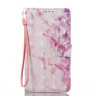Для samsung galaxy j3 (2017) j5 (2017) чехол для корпуса розовый мраморный узор 3d окрашенный карточный стент кошелек для телефона для