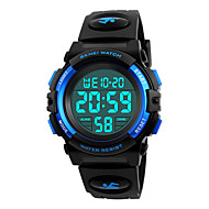 cheap Jewelry & Watches-SKMEI Sport Watch Military Watch Wrist Watch Emitters Water Resistant / Water Proof, Alarm, Calendar / date / day Black / Red / Blue / Japanese / Chronograph / Stopwatch / Noctilucent / Japanese