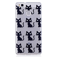 Чехол для huawei p10 lite p10 phone case tpu материал imd процесс черный шаблон для кошки hd телефон чехол чехол 8 p9 lite p8 lite y6 ii