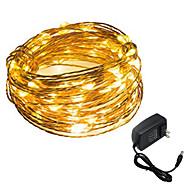 3W 스트링 조명 200-300 lm DC12 V 5 m 50 LED가 웜 화이트 화이트