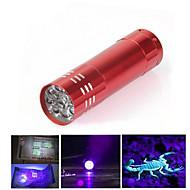 Φακοί LED Φακοί Black Light LED 300 Lumens 1 Τρόπος LED ΑΑΑ Ανθεκτικό στα Χτυπήματα Αντιολισθητική λαβή Φωτιστικό LED Εύκολο στη μεταφορά