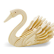 cheap Toy & Game-3D Puzzle Jigsaw Puzzle Wood Model Dinosaur Plane / Aircraft Swan DIY Wooden Wood Classic Kid's Unisex Gift