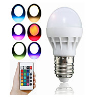 3W E27 Bulbi LED Inteligenți A50 1 led-uri LED Integrat Decorativ Telecomandă RGB 100lm 1500