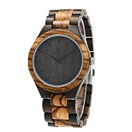 お買い得  -Redear 男性用 腕時計 ウッド 日本産 木製 ウッド バンド ぜいたく / エレガント ブラック / ブラウン / ステンレス