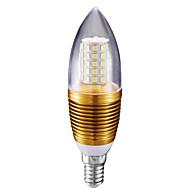 10W E14 Luzes de LED em Vela C35 60 leds SMD 2835 Branco Frio 700lm 6500K AC 85-265V