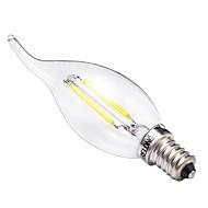 2W E14 Bombillas de Filamento LED C35 2 COB 200 lm Blanco Cálido Blanco 2700-3200 6000-6500 K Decorativa AC 100-240 V