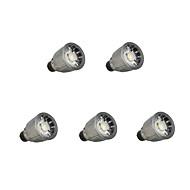 お買い得  LED スポットライト-5個 7W 780lm GU10 LEDスポットライト 1 LEDビーズ COB 調光可能 温白色 / クールホワイト 110-220V