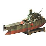 tanie Zabawki & hobby-Zabawki 3D Puzzle Zabawki Kwadrat Okret wojenny Statek 3D DIY Symulacja Nie określony Sztuk