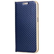 Недорогие Чехлы и кейсы для Galaxy S8 Plus-Кейс для Назначение SSamsung Galaxy S8 Plus S8 Бумажник для карт со стендом Магнитный Чехол Сплошной цвет Твердый Углеродное волокно для