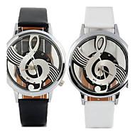 preiswerte Tolle Angebote auf Uhren-Damen Quartz Armbanduhr Armbanduhren für den Alltag Leder Band Freizeit Modisch Schwarz Weiß