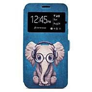 Case Kompatibilitás Samsung Galaxy J7 (2016) J5 (2016) Kártyatartó Állvánnyal Minta Teljes védelem Állat Rajzfilm Kemény Műbőr Bőr mert
