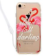 Недорогие Кейсы для iPhone 8 Plus-Кейс для Назначение Apple iPhone 8 iPhone 8 Plus Прозрачный С узором Кейс на заднюю панель Фламинго Твердый Акрил для iPhone 8 Pluss