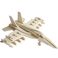 voordelige Speelgoed & Hobby-Speelgoedauto's 3D-puzzels Legpuzzel Houten modellen Vliegtuig Vechter 3D DHZ Hout Klassiek Jongens Unisex Geschenk