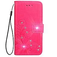 Kılıf Na Samsung Galaxy S8 Plus S8 Portfel Etui na karty Stras Z podpórką Flip Wytłaczany wzór Wzór Magnetyczne Futerał Solid Color Kwiaty