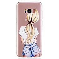 Недорогие Чехлы и кейсы для Galaxy S-Кейс для Назначение SSamsung Galaxy S8 Plus S8 С узором Задняя крышка Соблазнительная девушка Мягкий TPU для S8 S8 Plus S7 edge S7 S6